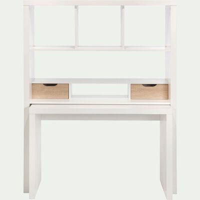 Bureau modulable avec étagères et tiroirs - blanc-Twisty