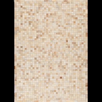 Tapis en cuir beige 200x300cm-LAYAN