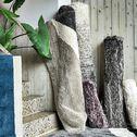 Tapis laineux à motif abstrait - noir et blanc 160x230cm-TUPPO