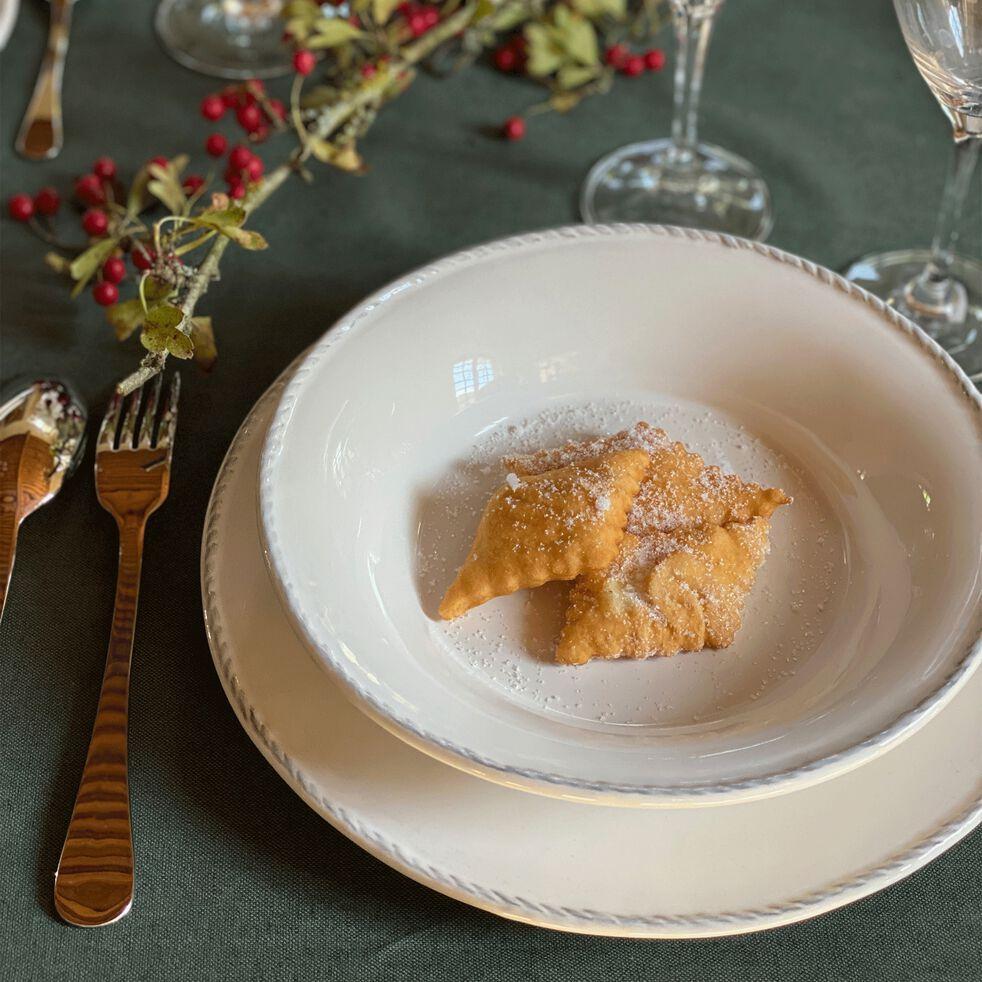Assiette plate en faïence D27cm - blanc-GALE