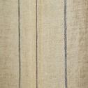 Voilage en lin teinte naturelle rayé bleu 140x250 cm-ISSIL