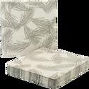 Lot de 20 serviettes en papier à motif aiguilles de pin 33x33cm-SAZE