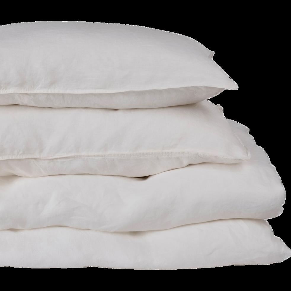 drap housse en lin blanc capelan 160x200cm bonnet 28cm vence 160x200 cm catalogue. Black Bedroom Furniture Sets. Home Design Ideas