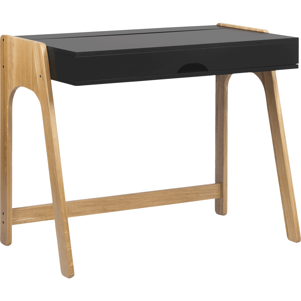 Bureau en bois noir avec plateau relevable - DUC - bureaux - alinea