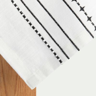 Nappe en coton blanche 150x250cm-ISSA