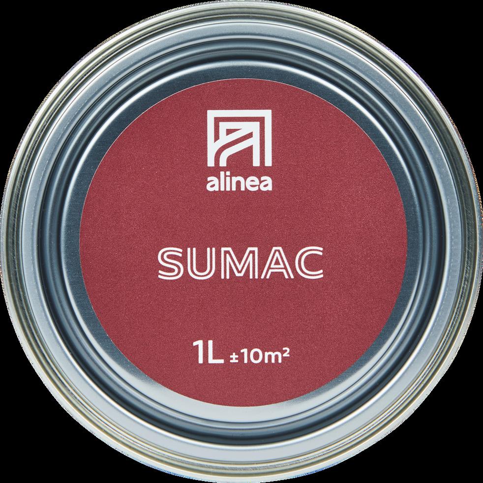 Peinture acrylique mate multi-supports 1L rouge sumac-PEINTURE