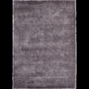 Tapis en viscose gris 160x230cm-VENCE