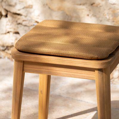 Galette de chaise indoor & outdoor en tissu déperlant - jaune alep-KIKO