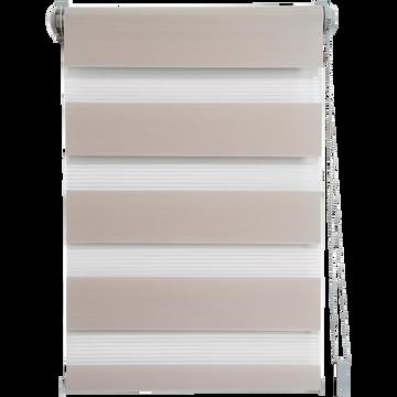 Store enrouleur tamisant taupe 92x190cm-JOUR-NUIT