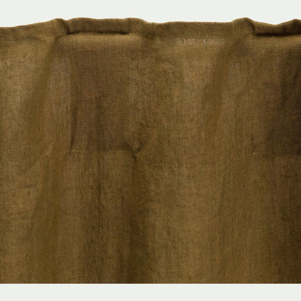Rideau à pattes cachées en lin - vert 140x250cm-PRENDRE RACINE