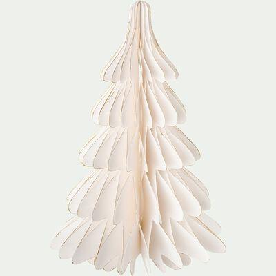 Sapin décoratif en papier - blanc H30cm-ALPILLES