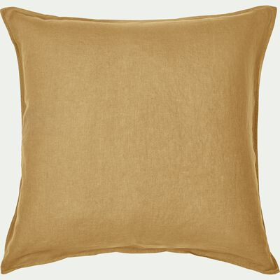 Taie d'oreiller lin lavé 65x65 cm beige nefle-VENCE