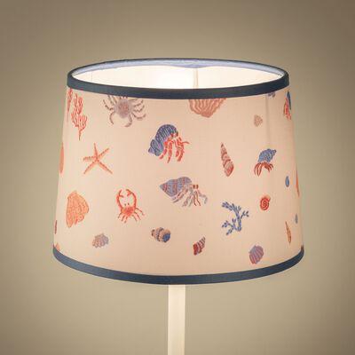 Abat-jour motif marin d18cm - multicolore-Trésor