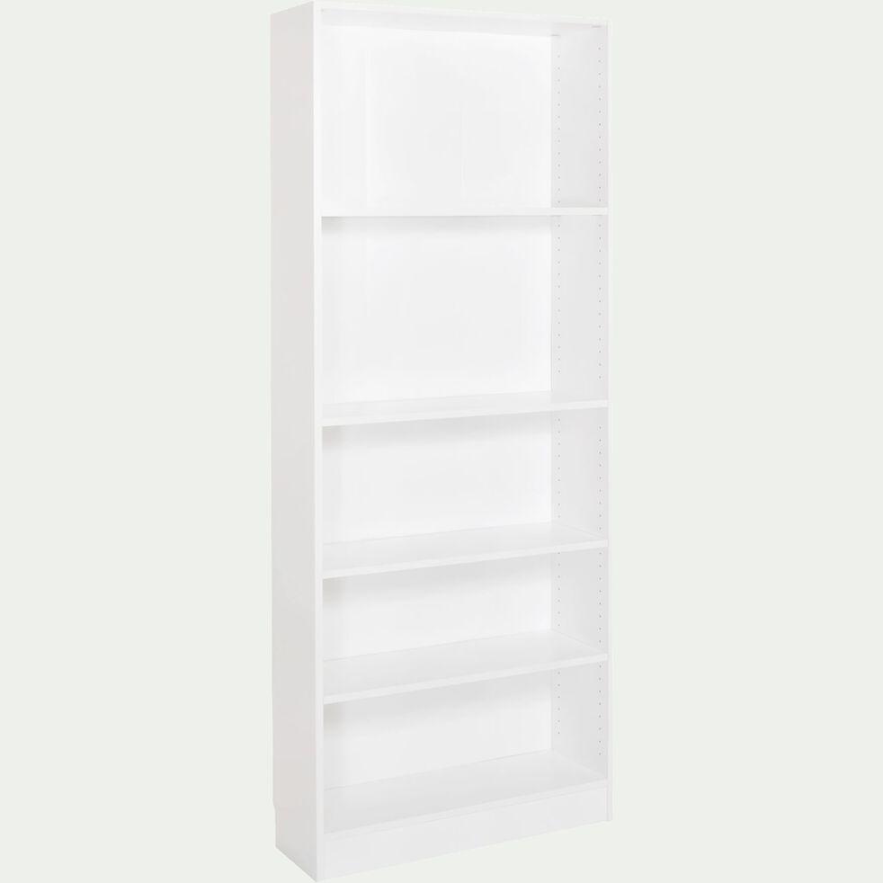 Bibliothèque 5 tablettes - blanc H203cm-Biala