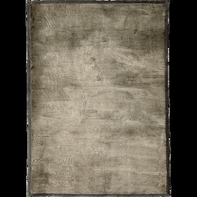 Tapis imitation fourrure gris foncé 140x200cm-DALLAS