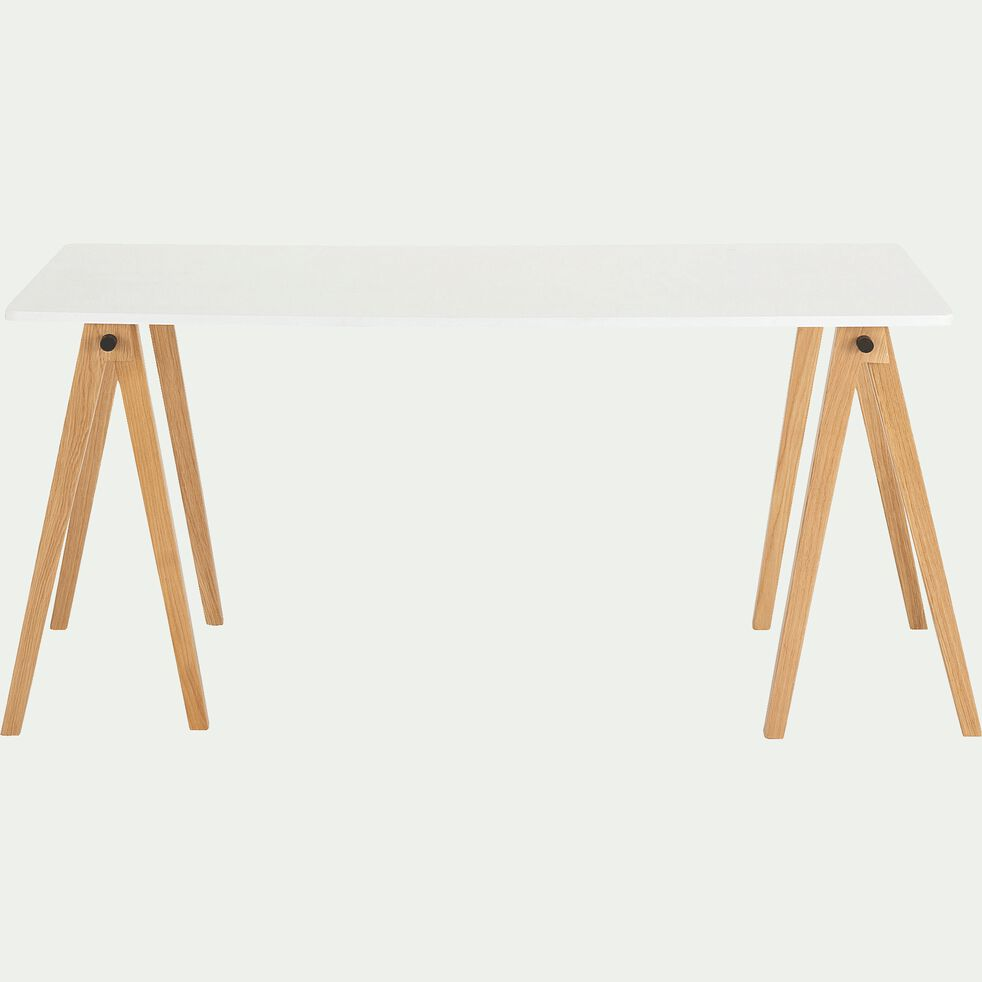 Lot de 4 barres pour former un tréteau de bureau composable - chêne-PUNCIA