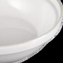Tajine avec couvercle en faïence blanc ventoux D29cm-LANKA