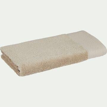 Serviette de bain en coton peigné - beige alpilles 50x100cm-AZUR