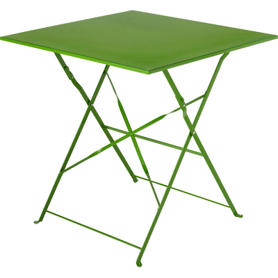 Table de jardin pliante vert L70cm (2 places)-PIMS