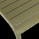 Chaise de jardin empilable en acier vert-SOURIS