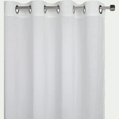 Voilage à œillets en polyester - blanc ventoux 135x300cm-DUNE