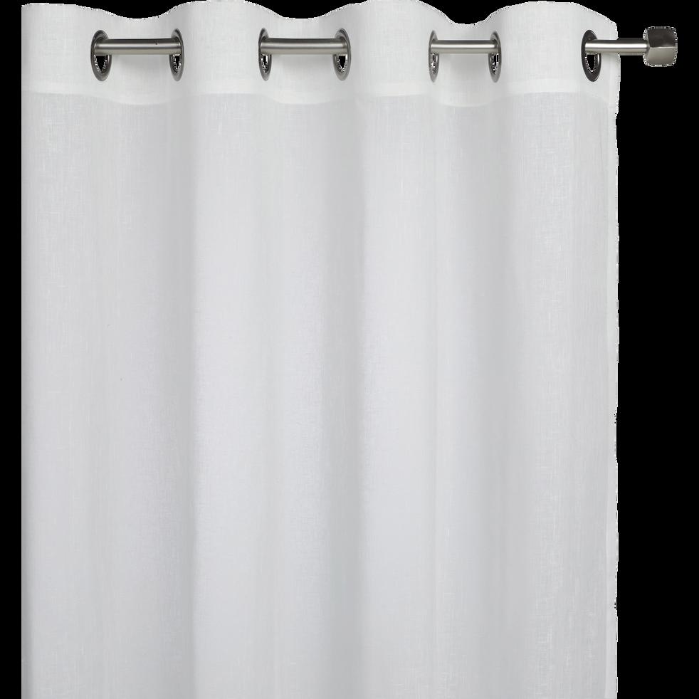 Voilage à oeillets blanc ventoux 135x300cm-DUNE