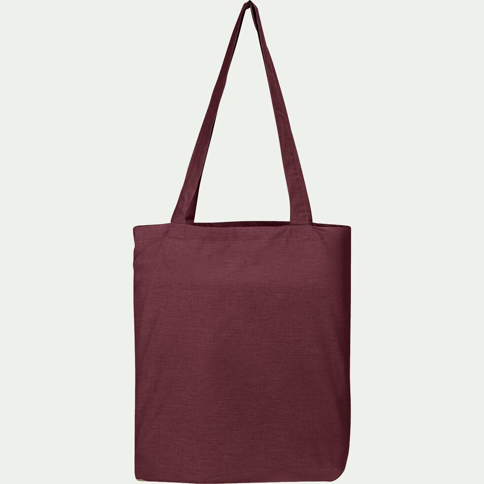 Housse de couette enfant en coton lavé rouge sumac 140x200cm-CALANQUES