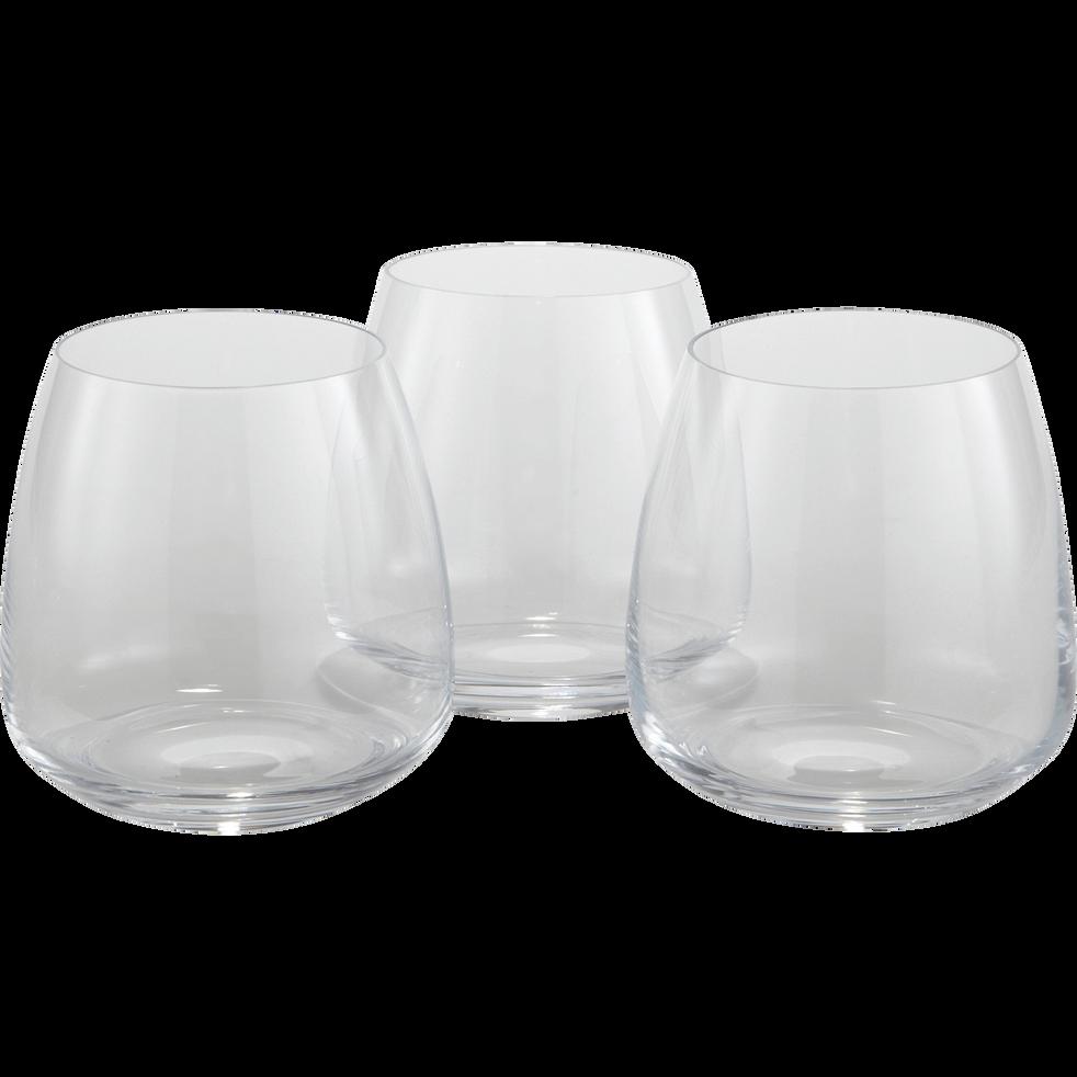Lot de 3 verres en cristallin transparent 40cl-ANDELLE