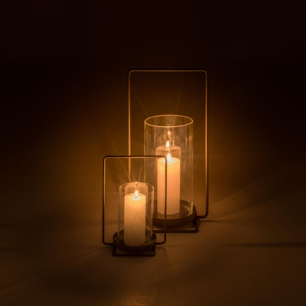 Lanterne en métal gris anthracite H45xD21cm-Embrun