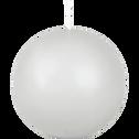Bougie ronde gris borie D8cm-HALBA