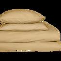 Lot de 2 taies d'oreiller en coton Beige nèfle 65x65cm-CALANQUES