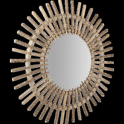 Miroir rond en kubu D90cm-FICUS