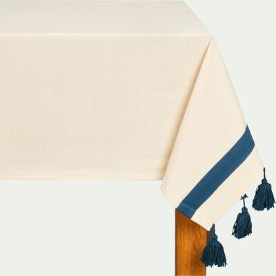Nappe en coton blanc 160x250cm-AMIN