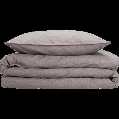 Parure de lit en percale de coton peigne Gris clair - Plusieurs tailles-GYPSE