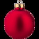 20 boules de Noël en verre rouge, marron et doré D6cm-DUA