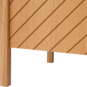 Buffet bas plaqué chêne 3 portes-OSCILLO