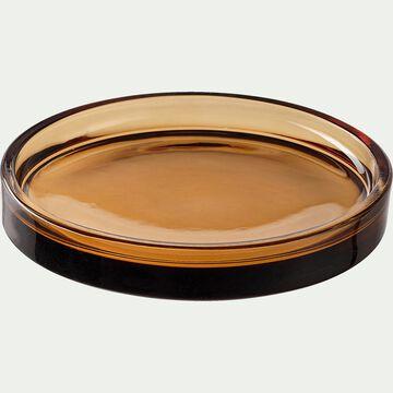 Porte-savon en verre - marron-OSCO