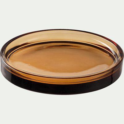 Plateau en verre marron-OSCO