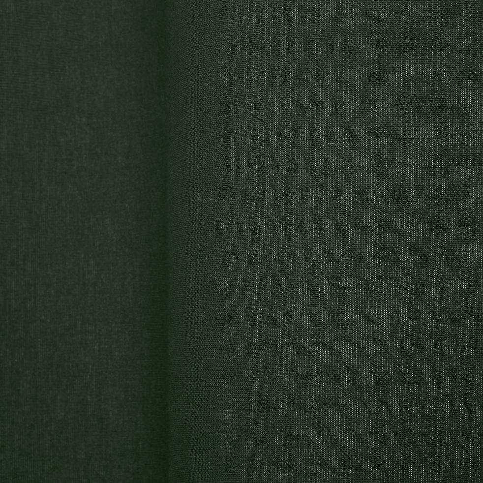 Rideau à oeillets en coton vert cèdre 140x250cm-CALANQUES