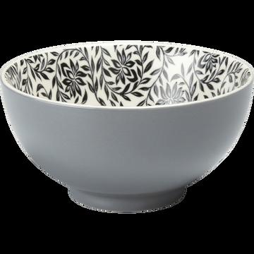 Coupelle en porcelaine gris restanque motifs jasmin D11cm-AIX