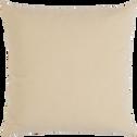 Coussin en coton beige roucas 40x40cm-CALANQUES
