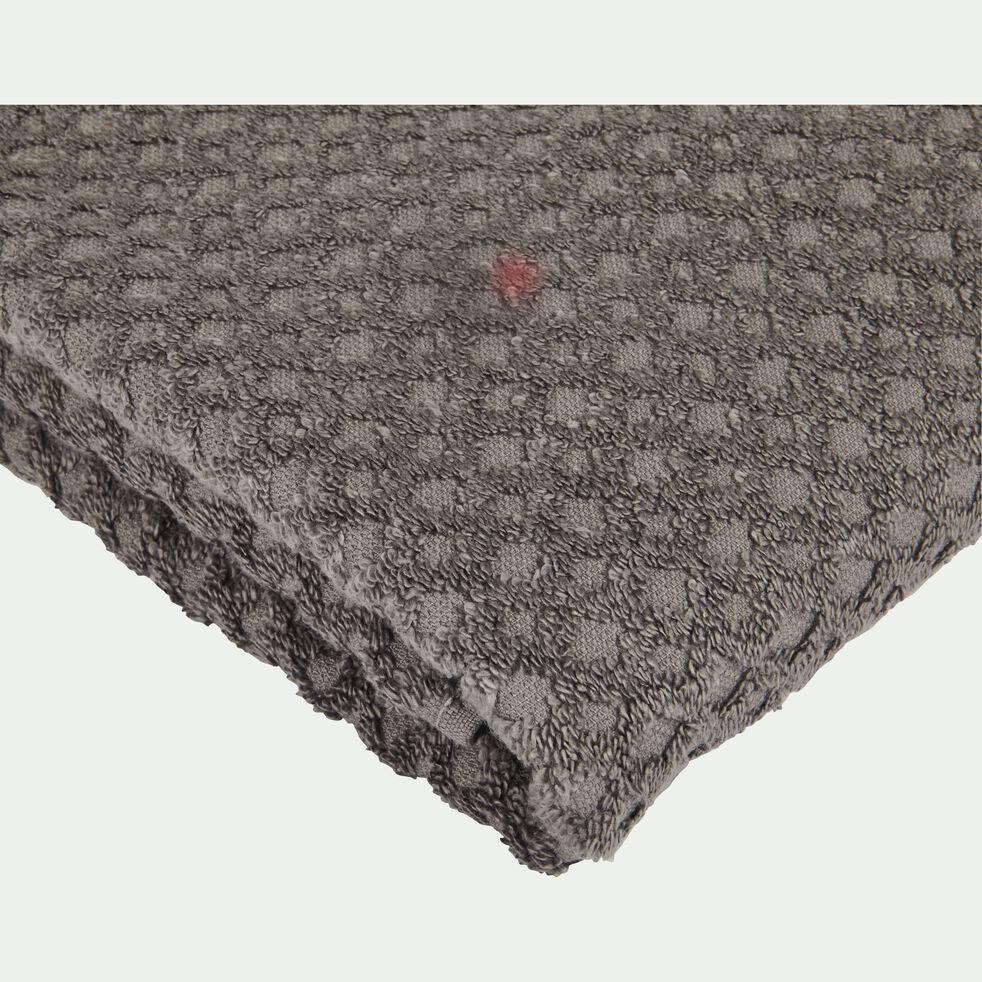 Serviette de toilette bouclette en coton - gris restanque 50x100cm-ETEL