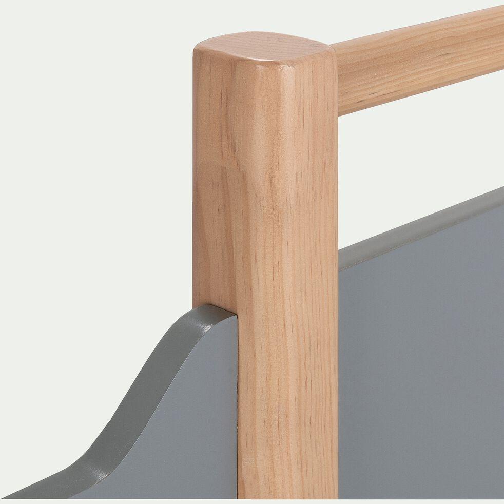 Lit enfant mi-haut en bois 90x200cm - gris-FORIO
