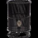 Lampe à poser en bambou noir H40xD25cm-JOICE
