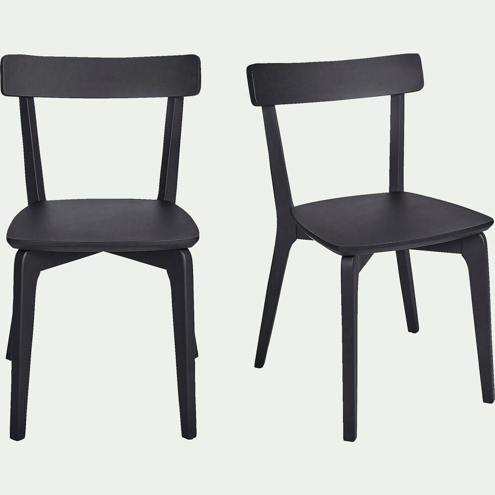 Chaise en bois - noir-SUZIE