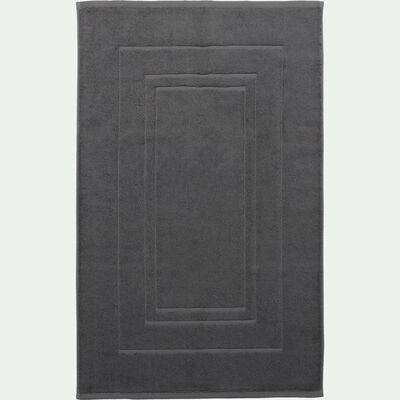 Tapis de bain en coton peigné - gris restanque 50x80cm-AZUR