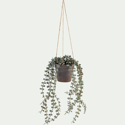 Plante artificielle tombante avec pot - vert H30cm-PALAYA