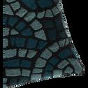 Coussin à motifs bleu 40x40cm-MOSAÏQUE