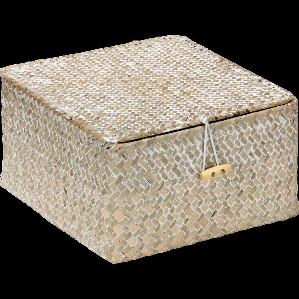 boite de rangement en jonc 20x20xh11cm haven bo tes de. Black Bedroom Furniture Sets. Home Design Ideas