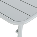 Table de jardin pliante en acier - gris vesuve (4 à 6 places)-Souris
